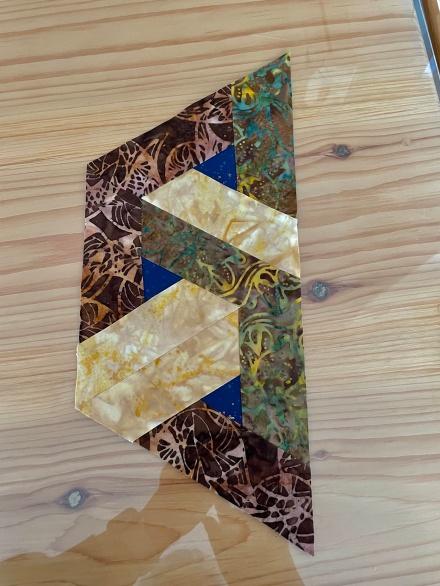 Three Triangle Units Sewn Together